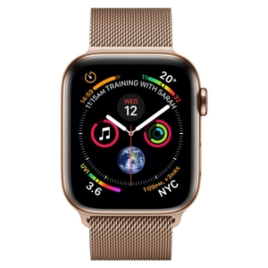 Apple Watch Series 5 44mm Gold Stainless Steel Case with Milanese Loop Band