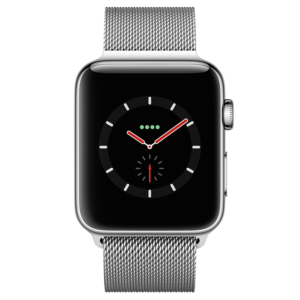 Apple Watch Series 5 44mm Silver Stainless Steel Case with Milanese Loop Band
