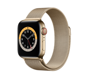 Apple Watch Series 6 Gold Stainless Steel Case with Milanese Loop