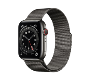 Apple Watch Series 6 Graphite Stainless Steel Case with Milanese Loop