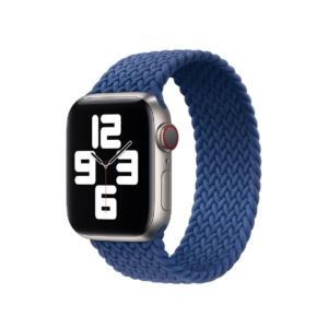 Apple Watch Series 6 40mm Stainless Steel Dial Atlantic Blue Braided Solo Loop