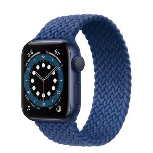 Apple Watch Series 6 GPS 44mm Blue Aluminum Case Blue Braided Solo Loop